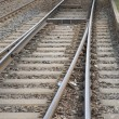Train Tracks in Urban Setting, Berlin, — Stock Photo