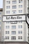 Karl Marx Allee Street Sign, Berlin — Stock fotografie