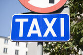 Blue Taxi Sign — Stock Photo