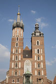 Mariacka Basilica - St Marys Church, Krakow — Stock Photo