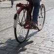 Stock Photo: Cyclist in Streets of Krakow