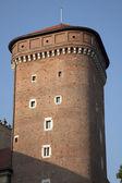 Tower of Wawel Hill, Krakow — Stock Photo