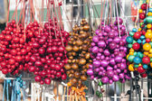 Colorful Beads for Sale on Market Stall in Krakow — Foto Stock