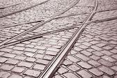 Tram Track, Prague — Stockfoto