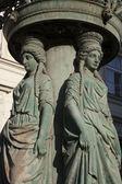 布拉格旧路灯柱上设计 — 图库照片