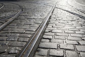 Tram Tracks in Prague — Stock Photo