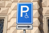 Disabled Parking Sign — Foto Stock