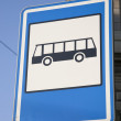 Blue Bus Stop Sign — Stock Photo