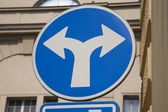 Blue Two Directions Traffic Sign — Foto Stock