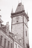 Town Hall Clock Tower, Old Town Square, Prague — Stock Photo