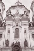 St Nicholas Church in Stare Mesto Neighborhood, Prague — Stock Photo