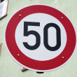 ������, ������: Red Fifty Speed Sign