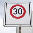 Постер, плакат: Red Thirty Speed Sign