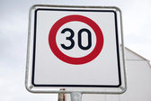 Red Thirty Speed Sign — Stock Photo