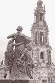 Katedral dresden, almanya — Stok fotoğraf