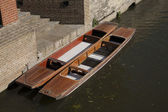 Punts on River Carn, Cambridge — Stock Photo