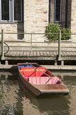 Punt Boat on River Cam, Cambridge — Stock Photo