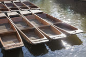 Punt Boats on River Cam, Cambridge — Stock Photo