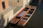 Punts on the River Carn, Cambridge — Стоковое фото
