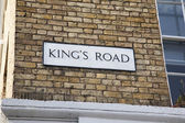 Kings Road Street Sign, Chelsea, London — Stock Photo