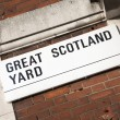 Great Scotland Yard Street Sign, Westminster, London — Stock Photo #49166663