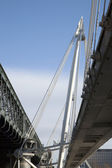Hungerford and Goldern Jubilee Bridges, London — Stock Photo