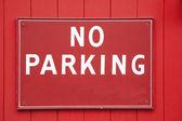 Nessun segno di parcheggio — Foto Stock