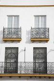 типичный фасад в севилье — Стоковое фото