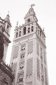 Giralda Tower, Cathedral, Seville - Sevilla, Spain, Europe — Stock Photo