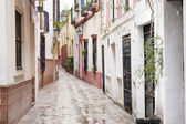 Typical Street in Santa Cruz Neighborhood, Seville — Stock Photo
