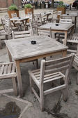 Sedie e tavolino bar — Foto Stock
