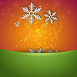Stock Photo: Bright stylish Christmas background with snowflake and copyspace