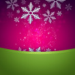 Bright stylish Christmas background with snowflake and copyspace — Stock Photo #12574876