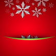 Bright stylish Christmas background with snowflake and copyspace — Stock Photo #12574886