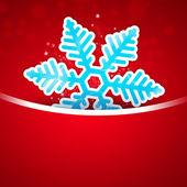Christmas snowflake applique on bright background — Stock Photo