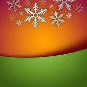 Ljusa eleganta jul bakgrund med snöflinga och copyspace — Stockfoto