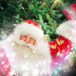 Portrait of Santa Claus conjuring against christmas tree — Stock Photo #12718824
