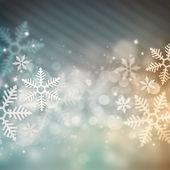Krásné sněhové vločky vánoční pozadí — Stock fotografie