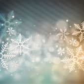 Vacker snöflinga jul bakgrund — Stockfoto