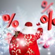 Santa Claus Christmas discount sales concept — Stock Photo #13177785
