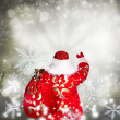 Portrait of Santa Claus conjuring — Stock Photo