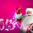 Santa Claus with 2013 new year number sign — Stock Photo #13178017
