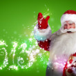 Santa Claus with 2013 new year number sign — Stock Photo #13178026