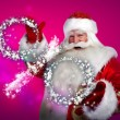 Santa Claus Christmas discount sales concept — Stock Photo