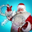 Santa Claus Christmas discount sales concept — Stock Photo #13178070