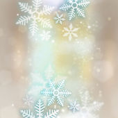 Abstract snowflakes background for winter and christmas theme — Stock Photo