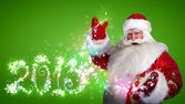 Santa Claus with 2013 new year number sign — Stock Photo