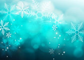 Abstract blue Snowflake background — Stock Photo
