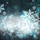 Abstract Christmas background with snowflakes — Stock Photo