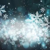 Abstracte kerstmis achtergrond met sneeuwvlokken — Stockfoto